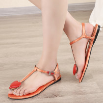 Arden Furtado Summer Fashion Trend Women's Shoes Pure Color Sandals Concise Mature Narrow Band Sweet Big size 42