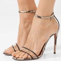 Arden Furtado Summer Fashion Women's Shoes Classics Sexy Elegant Serpentine Sandals Elegant Narrow Band Stilettos Heels