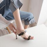 Arden Furtado Summer Fashion Trend Women's Shoes Stilettos Heels  Sexy Elegant Pure Color Concise Slippers Concise Big size 42