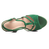 Arden Furtado Summer Fashion Trend Women's Shoes  Sexy Elegant Pure Color Sandals Wedges Sexy Concise Waterproof Matte