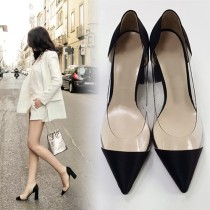 Arden Furtado Summer Fashion Trend Women's Shoes  Pointed Toe Chunky Heels Pure Color Pumps Elegant Small size 33