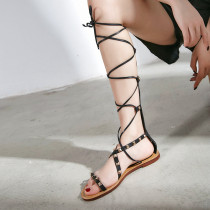 Arden Furtado Summer Fashion Trend Women's Shoes   Sexy Elegant Pure Color Flats Sandals Narrow Band Gladiator Concise Classics Narrow Band