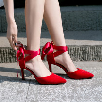 Arden Furtado Summer Fashion Trend Women's Shoes Pointed Toe Stilettos Heels Sexy  Sandals Party Shoes Elegant Pure Color  Big size 43