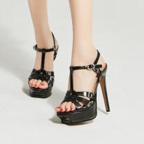 Arden Furtado Summer Fashion Trend Women's Shoes Stilettos Heels  Sexy Elegant Pure Color Classics Concise Waterproof Buckle Sandals Leather