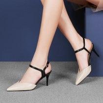 Arden Furtado Summer Fashion Trend Women's Shoes Pointed Toe  Sexy Elegant Pure Color Sandals Buckle Stilettos Heels Party Shoes