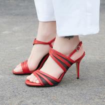 Arden Furtado Summer Fashion Trend Women's Shoes Stilettos Heels  Sexy Elegant Pure Color Sandals Buckle Concise Narrow Band