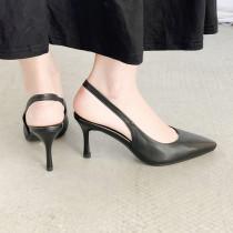 Arden Furtado Summer Fashion Trend Women's Shoes Pointed Toe Stilettos Heels  Pure Color Slip on Sexy Elegant Sandals Big size43