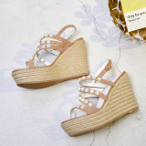 Arden Furtado Summer Fashion Trend Women's Shoes  Sexy Elegant Pure Color Sandals Classics Narrow Band Waterproof Small size 33
