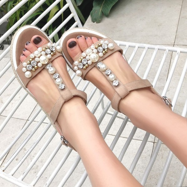 Arden Furtado Summer Fashion Trend Women's Shoes   Sexy Elegant Pure Color Sandals Buckle Mature Classics  Big size 42