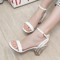 Arden Furtado Summer Fashion Trend Women's Shoes Chunky Heels  Sexy Elegant Pure Color Concise Back Buckle Buckle Sandals Big size 43