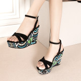 Arden Furtado Summer Fashion Trend Women's Shoes Sexy Elegant Concise Mature Sandals Concise Buckle Waterproof Classics Mature