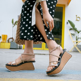 Arden Furtado Summer Fashion Trend Women's Shoes Sexy Elegant Pure Color Sandals Buckle Narrow Band Concise Waterproof