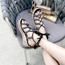 Arden Furtado Summer Fashion Trend Women's Shoes  Sexy Elegant Sandals Lace up Waterproof Narrow Band Concise Sandals