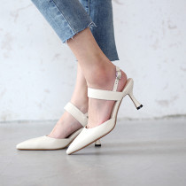 Arden Furtado Summer Fashion Trend Women's Shoes Pointed Toe Stilettos Heels  Sexy Elegant Pure Color Sandals
