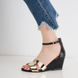 Arden Furtado Summer Fashion Trend Women's Shoes  Sexy Elegant Sandals Buckle Leather Classics Concise