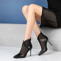 Arden Furtado Summer Fashion Trend Women's Shoes Pointed Toe Stilettos Heels Zipper Office lady Elegant Classics Pure Color Sexy Short Boots Women's Boots Elegant