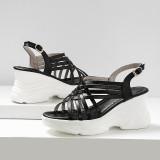 Arden Furtado Summer Fashion Trend Women's Shoes  Sexy Elegant  Pure Color Casual Shoes Sandals Leather Concise Mature Big size 43