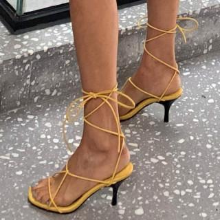 Arden Furtado Summer Fashion Trend Women's Shoes  Sexy Elegant Pure Color Concise Narrow Band Sandals Stilettos Heels Office lady Big size 43