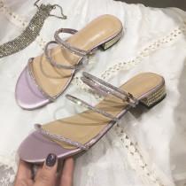 Arden Furtado Summer Fashion Trend Women's Shoes Sexy Elegant Pure Color Classics Slippers Narrow Band Big size 43