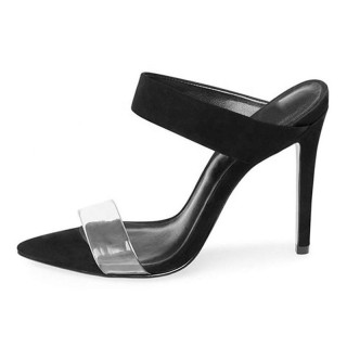 Arden Furtado Summer Fashion Trend Women's Shoes Pointed Toe Stilettos Heels Slippers  Sexy Elegant Pure Color Matte Concise