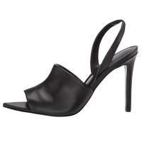 Arden Furtado Summer Fashion Trend Women's Shoes Pure Color  Sexy Elegant Leather Sandals Slip-on Stilettos Heels Party Shoes