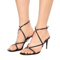 Arden Furtado Summer Fashion Women's Shoes Stilettos Heels Sexy Elegant  Classics Classics Leather Pure Color Sandals Buckle