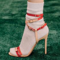 Arden Furtado Summer Fashion Women's Shoes Stilettos Heels Sexy Elegant Mature Concise Buckle ankle strap Sandals