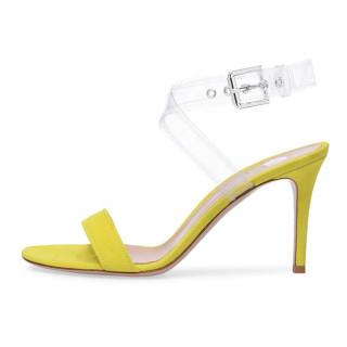 Arden Furtado Summer Fashion Trend Women's Shoes  Sexy Elegant Stilettos Heels Pure Color Classics Sandals Buckle Party Shoes