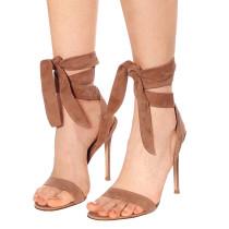 Arden Furtado Summer Fashion Trend Women's Shoes Stilettos Heels Sexy Elegant Pure Color  Ankle Strap Party Shoes Concise