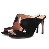 Arden Furtado Summer Fashion Trend Women's Shoes Stilettos Heels Sexy suede Elegant Pure Color Mature Concise Classics Slippers