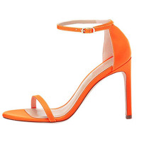 Arden Furtado Summer Fashion Trend Women's Shoes  Stilettos Heels  Sexy Classics Elegant Pure Color Sandals Buckle  Big size 45