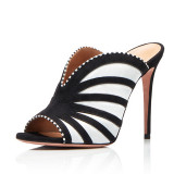 Arden Furtado Summer Fashion Trend Women's Shoes Stilettos Heels Mature Sexy Elegant Mature Concise Mixed Colors Big size 45