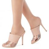 Arden Furtado Summer Fashion Trend Women's Shoes Sexy Elegant Peep Toe PVC Classics Concise Mature Slippers Big size 45