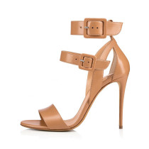 Arden Furtado Summer Fashion Women's Shoes Stilettos Heels Sexy Elegant Pure Color Classics Narrow Band Buckle strap Sandals