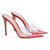 Arden Furtado Summer Fashion Women's Shoes Stilettos Heels Sexy PVC red Elegant Classics Slippers slides Big size