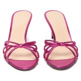 Arden Furtado Summer Fashion Women's Shoes Stilettos Heels  Sexy Elegant Pure Color Slippers  Leather  Narrow Band Big size 45