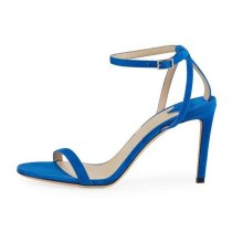 Arden Furtado Summer Fashion Trend Women's Shoes Stilettos Heels Sexy Elegant Narrow Band Pure Color Sling Back Buckle Sandals