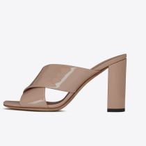 Arden Furtado Summer Fashion Trend Women's Shoes  Chunky Heels Sexy Concise Elegant Pure Color nude Classics Slippers Concise