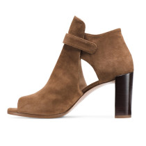 Arden Furtado Summer Fashion Trend Women's Shoes Chunky Heels Mature Sexy Elegant Matte Pure Color brown Cool boots Elegant