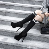 Arden Furtado Fashion Women's Shoes Winter  Stilettos Heels Sexy Elegant Ladies Boots Suede Mature Classics Slip on Half Boots