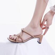 Arden Furtado Summer Fashion Trend Women's Shoes  Sexy Elegant Pure Color Slippers Classics Narrow Band Classics Mature Concise
