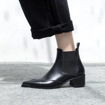 Arden Furtado Fashion Women's Shoes Pointed Toe Sexy Elegant Ladies Boots Genuine Leather chelsea boots Women's Boots