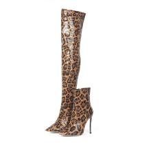 Arden Furtado Fashion Women's Shoes spring autumn Pointed Toe Stilettos Heels Zipper Sexy Elegant Ladies Boots leopard ankle Boots
