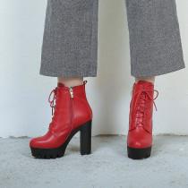 Arden Furtado Fashion Women's Shoes Winter Sexy Elegant Ladies Boots Pure Color Leather Elegant Short Boots Concise Classics