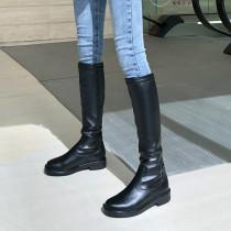 Arden Furtado Fashion Women's Shoes Winter  Sexy Elegant Ladies Boots Pure Color Leather Concise Classics Mature Big size 43