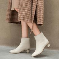 Arden Furtado Fashion Women's Shoes Winter Sexy Elegant Ladies Boots Pure Color Elegant Women's Boots Short Boots Concise