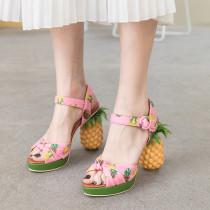Arden Furtado Summer Fashion Women's Shoes Elegant Buckle strap Elegant Sweet pineapple Sandals