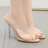 Arden Furtado Summer Fashion Women's Shoes crystal heels Sexy Elegant Slippers flip flops slides big size 41 42
