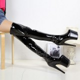 Arden Furtado Fashion Women's Shoes round Toe Stilettos Heels Zipper Sexy Elegant  Waterproof platform white red boots 44 46