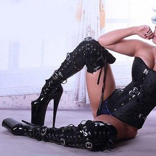Arden Furtado Fashion Women's Shoes Round Toe platform Stilettos Heels Zipper Sexy Elegant Black Over The Knee thigh High Boots